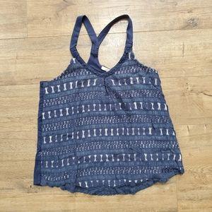 💛3/$12 BETA HOUSE Crochet Lace Tank